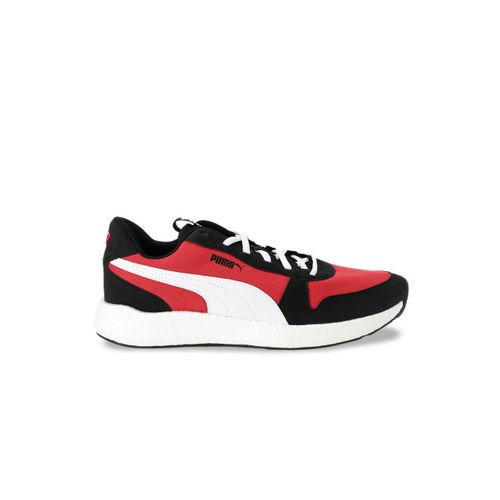 Puma Men Black & Red NRGY Neko Retro Puma Black-High Running Shoes