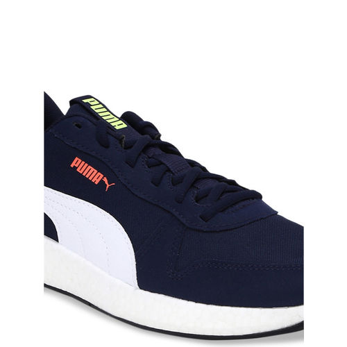 Puma Men Navy Blue Textile Mid-Top Running Shoes