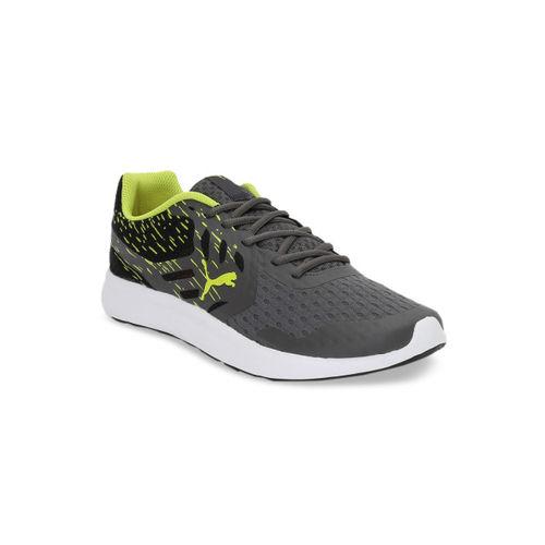 Puma Men Grey Gamble XT IDP Mesh Running Shoes