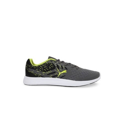 Puma Men Grey Gamble XT IDP Mesh Running Shoes