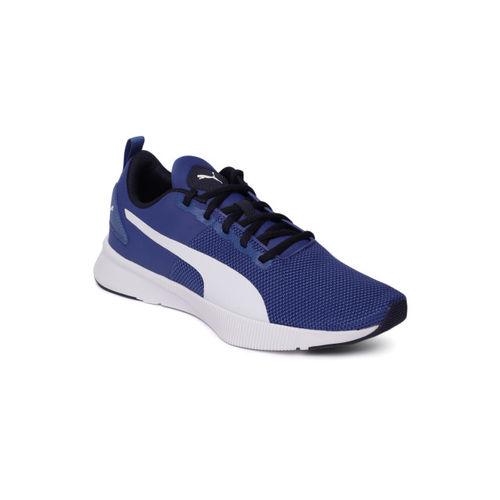 Puma Unisex Blue Solid Flyer SoftFoam + Running Shoes