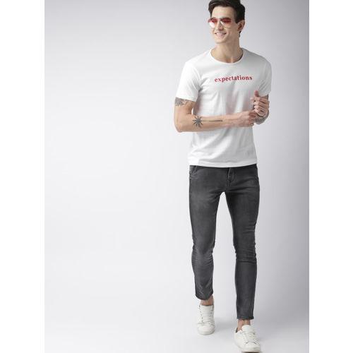 Mast & Harbour Men White Printed Round Neck T-shirt