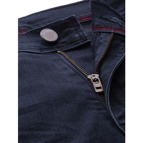 Levis Men Blue 511 Redloop Slim Fit Mid-Rise Clean Look Stretchable Jeans