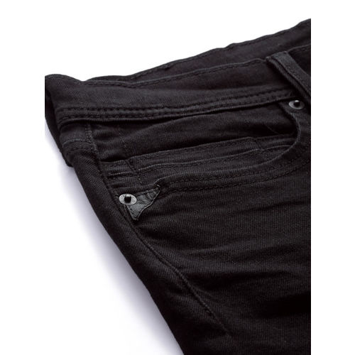 Levis Men Black Super Skinny Fit Mid-Rise Clean Look Stretchable Jeans 519