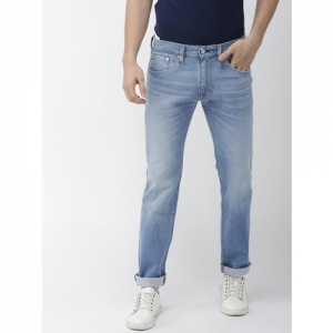 Levis Men Blue Skinny Fit Mid-Rise Clean Look Stretchable Jeans 65504