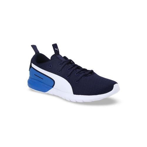 Puma Men Navy Blue Mesh Mid-Top Vigor Pro IDP Peacoat-Indigo Bunting-Pum Running Shoes