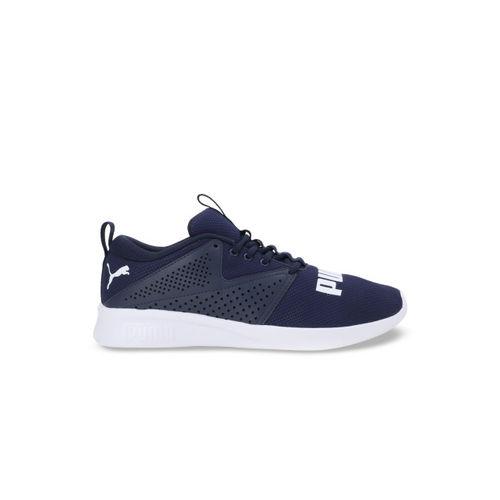 Puma Men Blue Textile Detector Peacoat Running Shoes