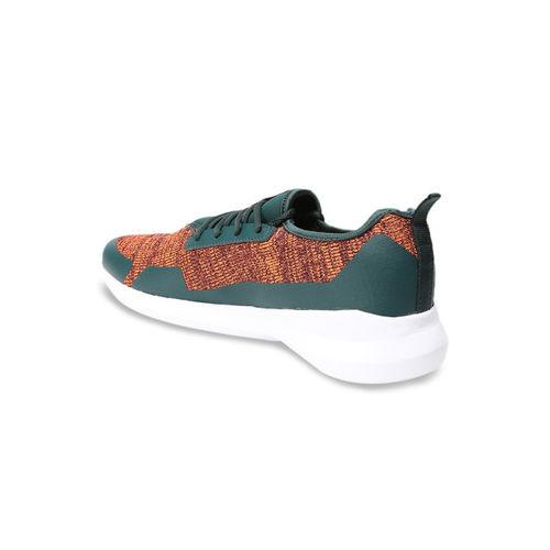 Puma Men Orange & Green Stride evo IDP Ponderosa Pine Textile Running Shoes