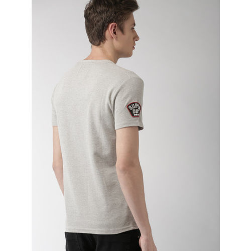 Superdry Men Grey Printed Round Neck T-shirt