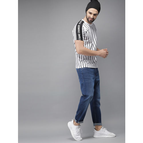 HERE&NOW Men Blue Slim Tapered Fit Mid-Rise Clean Look Stretchable Jeans