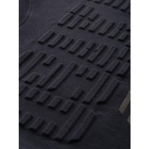 Superdry Men Navy Blue Printed Round Neck T-shirt