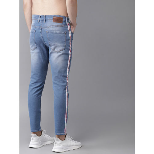 Moda Rapido Blue Cotton Denim Slim Fit Casual Jeans