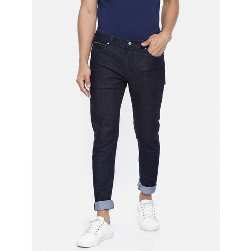 Lee Men Blue Bruce Dim Skinny Fit Mid-Rise Clean Look Stretchable Jeans