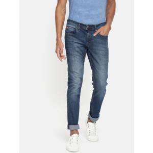 Lee Cooper Men Blue Slim Fit Low-Rise Clean Look Stretchable Jeans