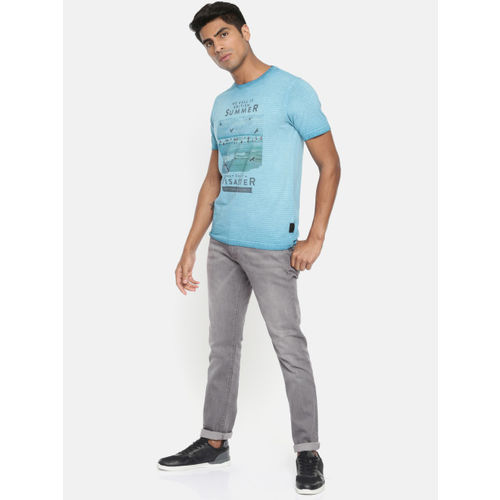 Pepe Jeans Men Grey Slim Fit Low-Rise Clean Look Stretchable Jeans