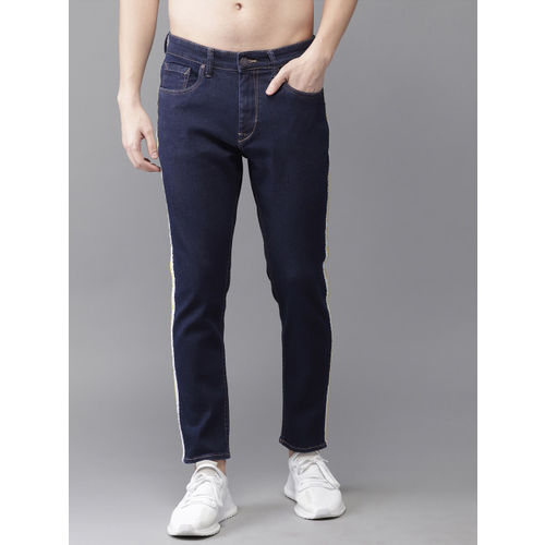 Moda Rapido Men Blue Slim Tapered Fit Mid-Rise Clean Look Stretchable Cropped Jeans
