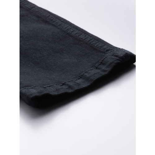 Mast & Harbour Men Black Skinny Fit Mid-Rise Clean Look Stretchable Jeans