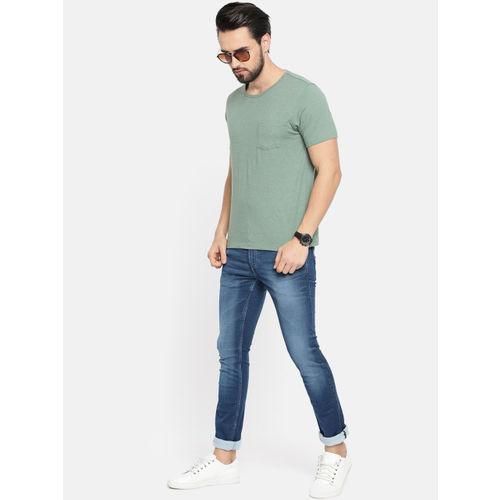 Louis Philippe Blue Cotton Denim Slim Fit Casual Jeans