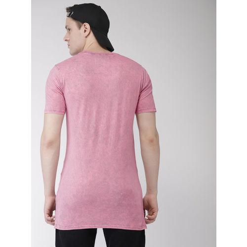 Superdry Men Pink Dyed Round Neck Longline T-shirt