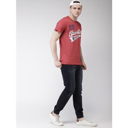 Superdry Men Red Printed Round Neck T-shirt