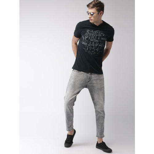 Superdry Men Navy Blue Printed T-shirt