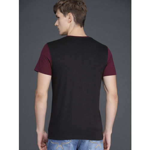WROGN Men Assorted Pack of 3 Round Neck T-Shirts