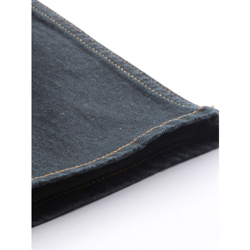 Lee Men Blue with a tinge of Green Bruce Skinny Fit Mid-Rise Clean Look Stretchable Jeans