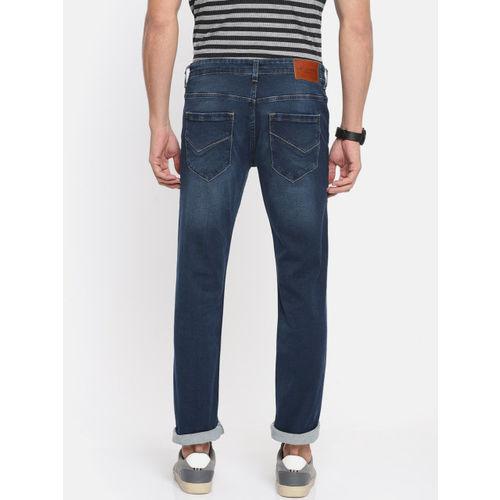 Louis Philippe Jeans Men Blue Slim Fit Low-Rise Clean Look Stretchable Jeans