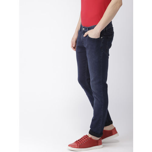 Tommy Hilfiger Men Blue Sidney Skinny Fit Mid-Rise Clean Look Stretchable Jeans