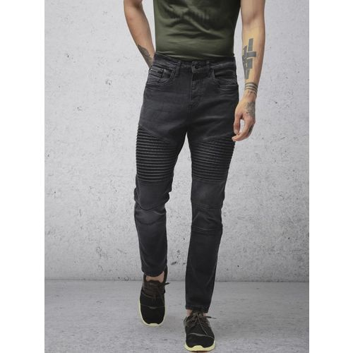 Ecko Unltd Men Black Slim Tapered Fit Mid-Rise Clean Look Stretchable Jeans