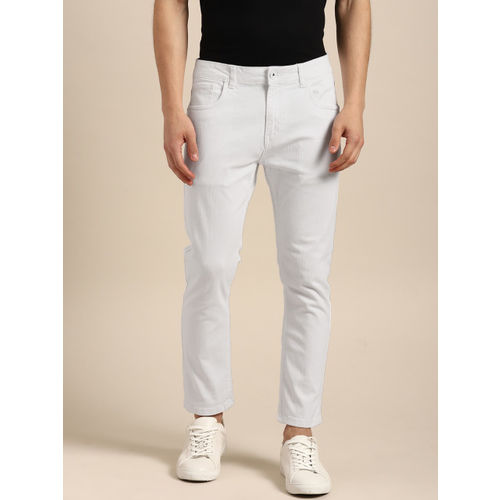 ether White Cotton Denim Slim Fit Casual Jeans