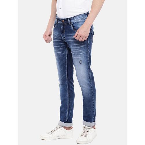 Provogue Men Blue Slim Fit Mid-Rise Clean Look Stretchable Jeans