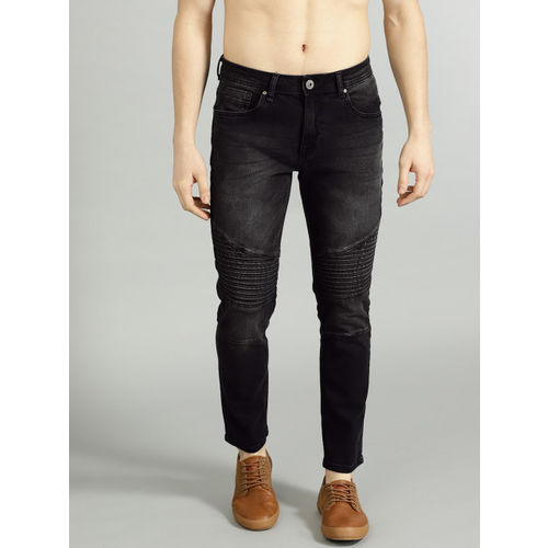 Roadster Men Black Slim Fit Mid-Rise Low Distress Stretchable Jeans