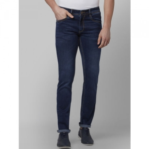 Park Avenue Men Blue Tapered Fit Mid-Rise Clean Look Jeans