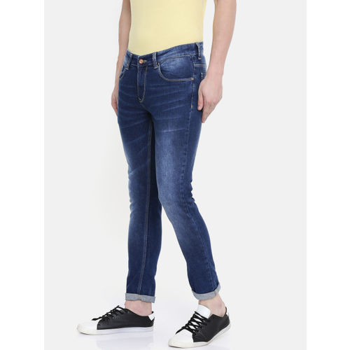 SPYKAR Men Blue Super Skinny Fit Low-Rise Clean Look Stretchable Jeans