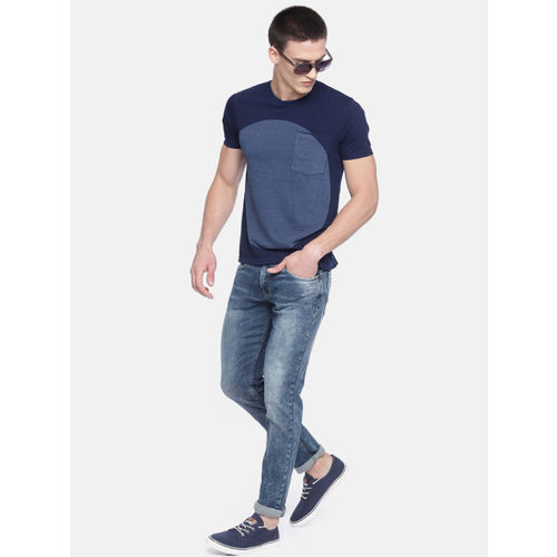 SPYKAR Men Blue Skinny Fit Low-Rise Clean Look Stretchable Jeans