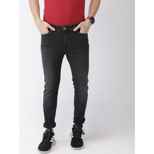 Tommy Hilfiger Men Black Skinny Fit Mid-Rise Clean Look Stretchable Jeans