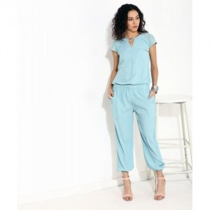 Yepme Nigella Blue Solid Polyester Lace Jumpsuit