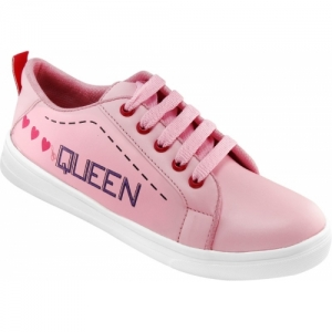 Shoe Island Pink Synthetic Printed Feminae Stylish Fancy Casual Shoes