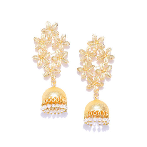 Zobby Gold-Plated Handcrafted Dome Shaped Jhumkas