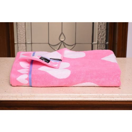 Avira Home Cotton 540 GSM Bath Towel(Pink)