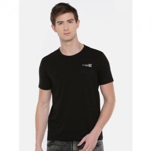SPYKAR Men Black Solid Round Neck T-shirt