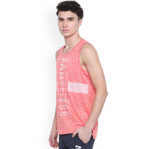 People Men Coral Printed Round Neck T-shirt