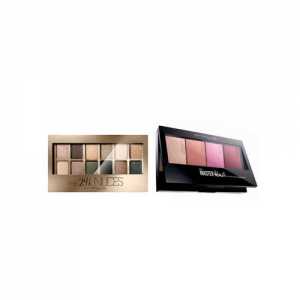 Maybelline The 24K Gold skin Palette Eyeshadow & Face Studio Master Colour & Highlight Kit