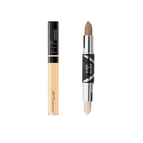 Maybelline New York Fit Me 25 Medium Concealer & Face Studio Contouring Duo Stick