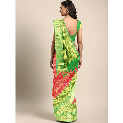 The Chennai Silks Classicate Red Pure Silk Woven Design Kanjeevaram Saree