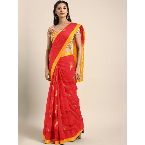 Buy The Chennai Silks Red Pure Silk Woven Design Kanjeevaram Soft Silk Saree Online Looksgud In