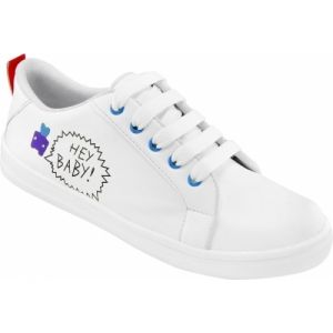 Longwalk White Synthetic Leather Casual Shoes