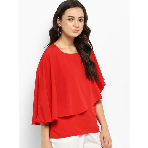 Hapuka Women Red Solid Cape Top