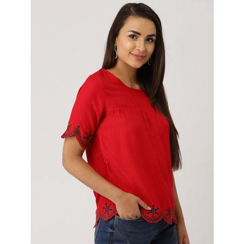 IMARA Women Red Solid Top